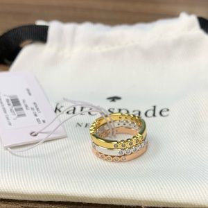 Kate Spade ♠️ stack ring set size 5